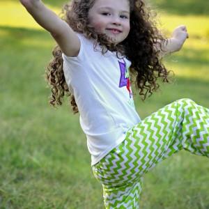 Little girl green pants